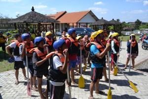 persiapan rafting di batu rafting